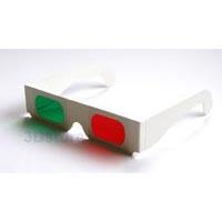 2d770a811959e1 Rood-groen kartonnen 3D bril